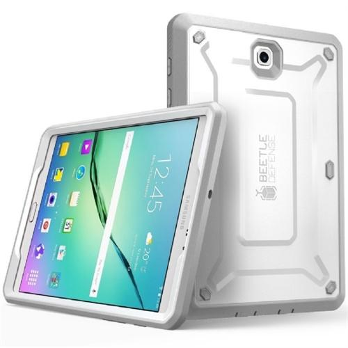 Galaxy Tab S2 8.0, Supcase, Unicorn Beetle Pro, Protective Cover w/ Screen Protector Bumper-White/Gray