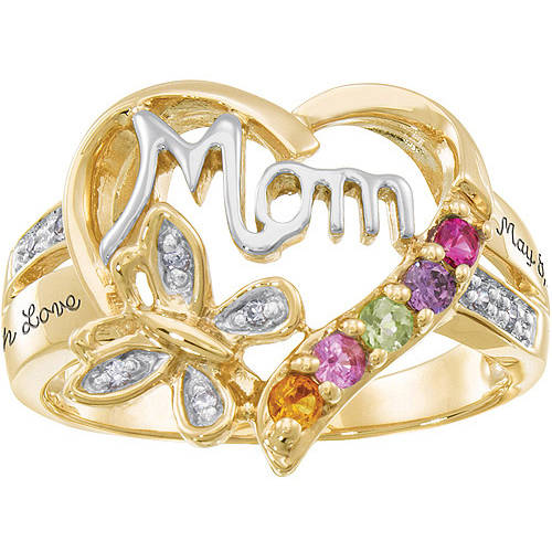 Personalized Keepsake Mom's Blessing Birthstone Ring