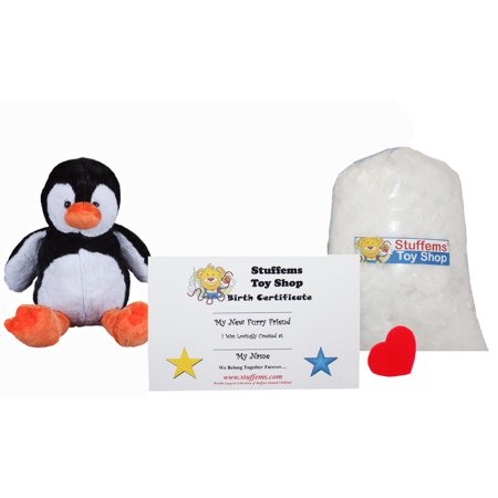 Penguins Stuffed Animals (Make Your Own Stuffed Animal Mini 8 Inch Tux the Penguin Kit - No Sewing)