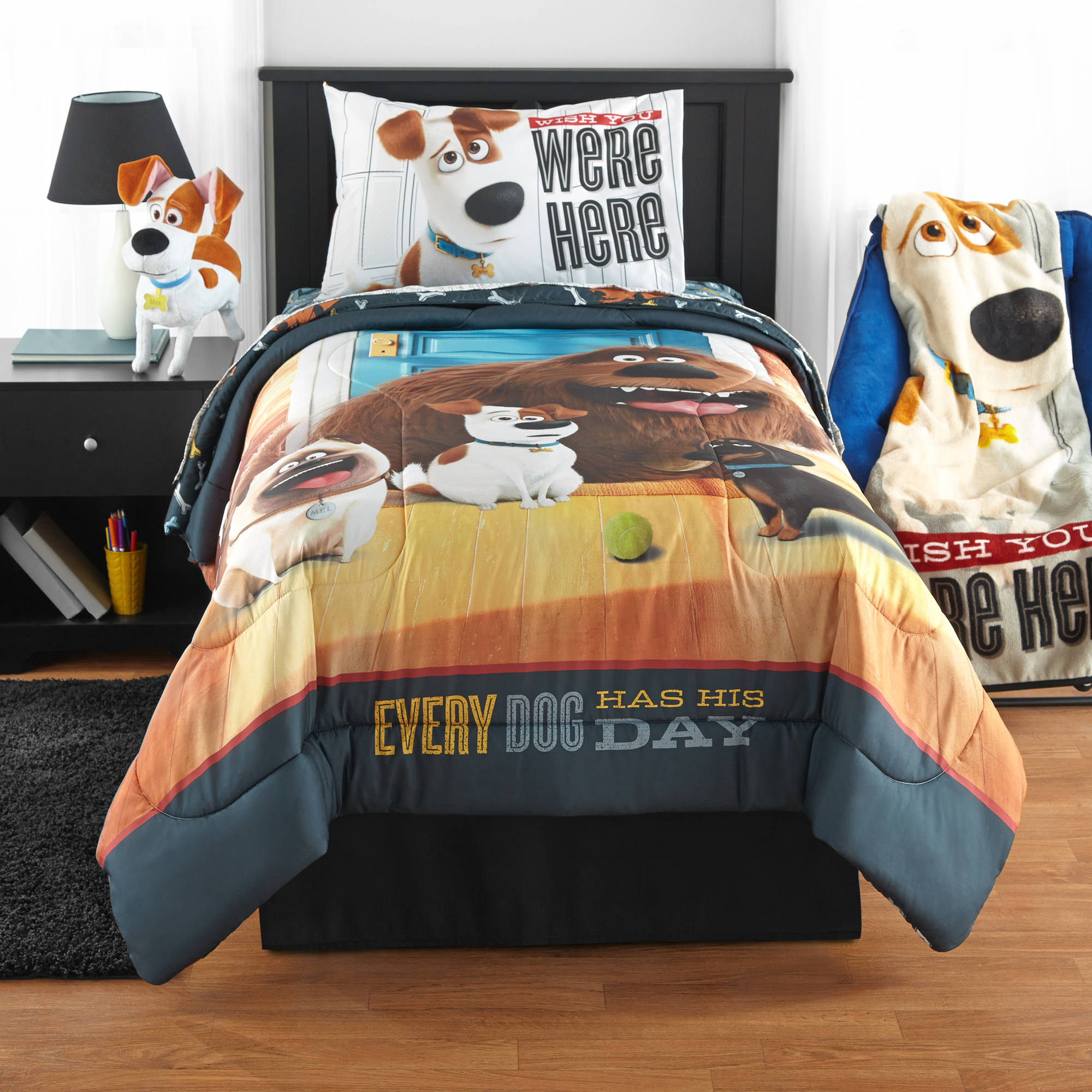 Secret Life Of Pets 'Wish You Were Here' Reversible Twin/Full Comforter