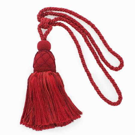 Large Elegant |Maroon, Black Cherry, Chinese Red|Curtain and Drapery Tassel Tieback|9 1/2