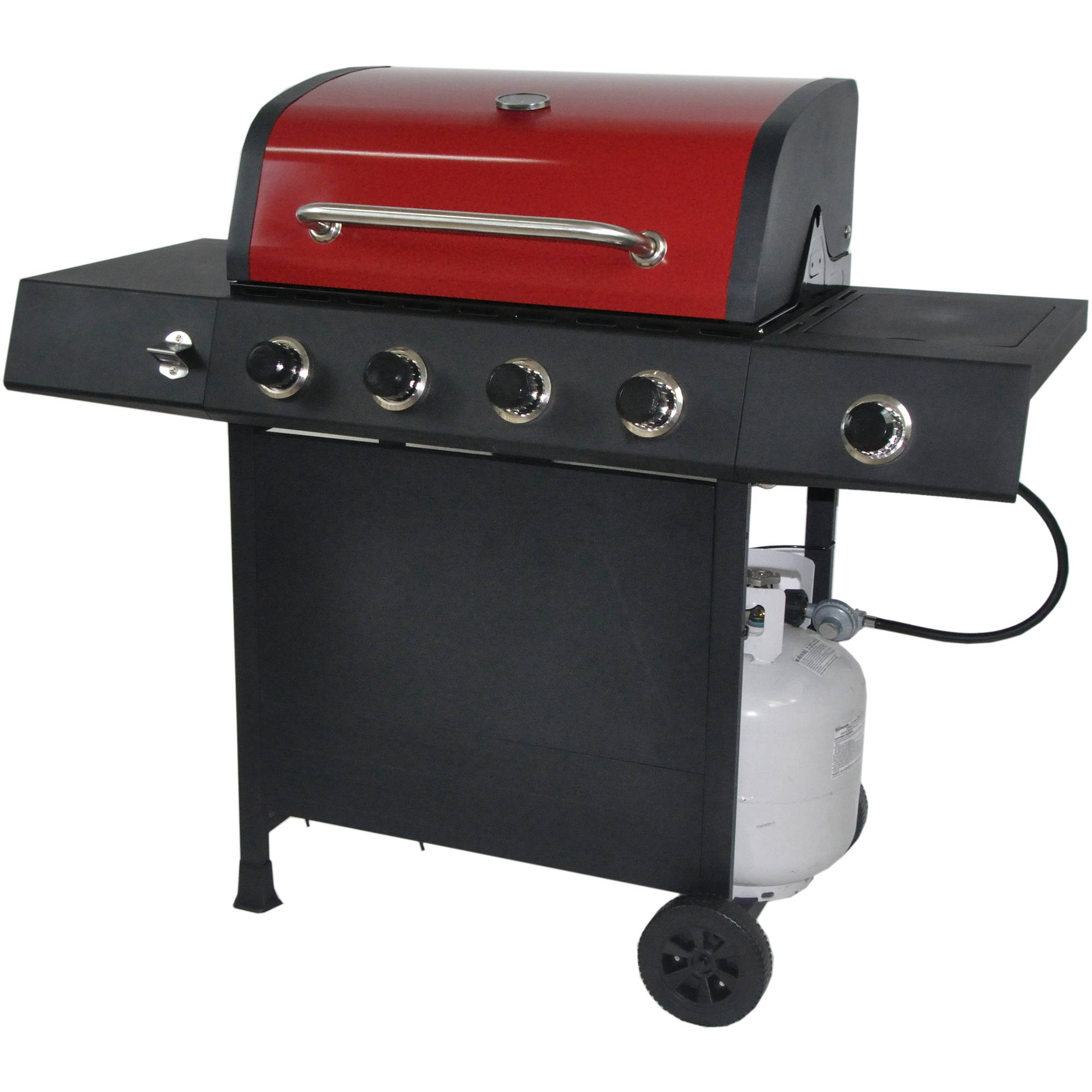 revoace 4 burner lp gas grill with side burner red sedona. Black Bedroom Furniture Sets. Home Design Ideas