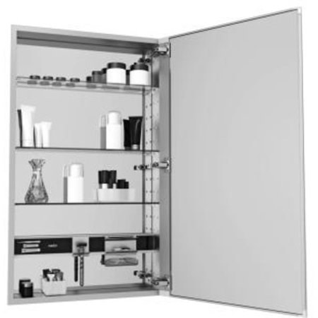 Robern MC1240D4FPR Mirrored M Series 12 X 40 X 4 Plain Single Door Me