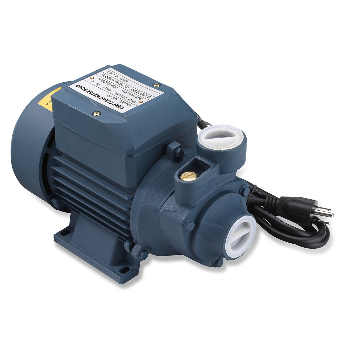 Tooluxe 50635 Electric Centrifugal Clear Water Pump, 0.5 HP   Pools, Ponds, Irrigation, Garden, Sprinkling   380 GPH