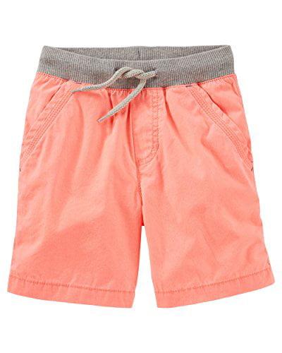Oshkosh B'gosh Little Boys' Pull On Neon Poplin Shorts (3-Toddler)