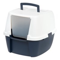 IRIS USA, Jumbo Hooded Litter Box, Navy