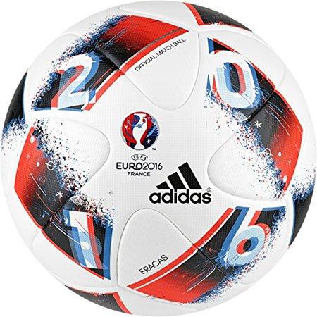 adidas Performance Euro 16 Official Match Soccer Ball, Size 5, White/Bright Blue/Solar Red/Silver Metallic - image 3 de 3