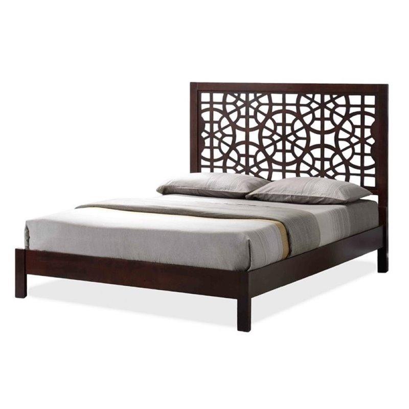 Atlin Designs King Platform Bed in Dark Brown