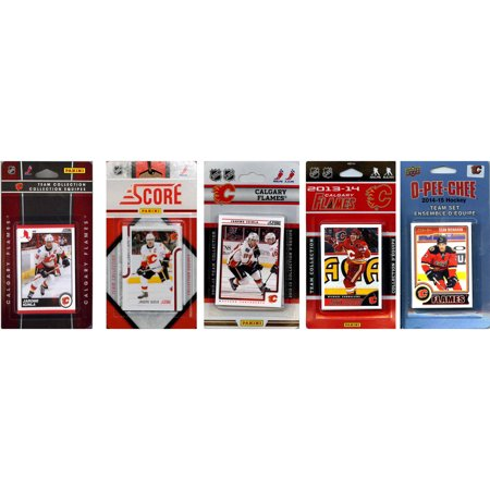 C&I Collectables NHL Calgary Flames 5 Different Licensed Trading Card Team