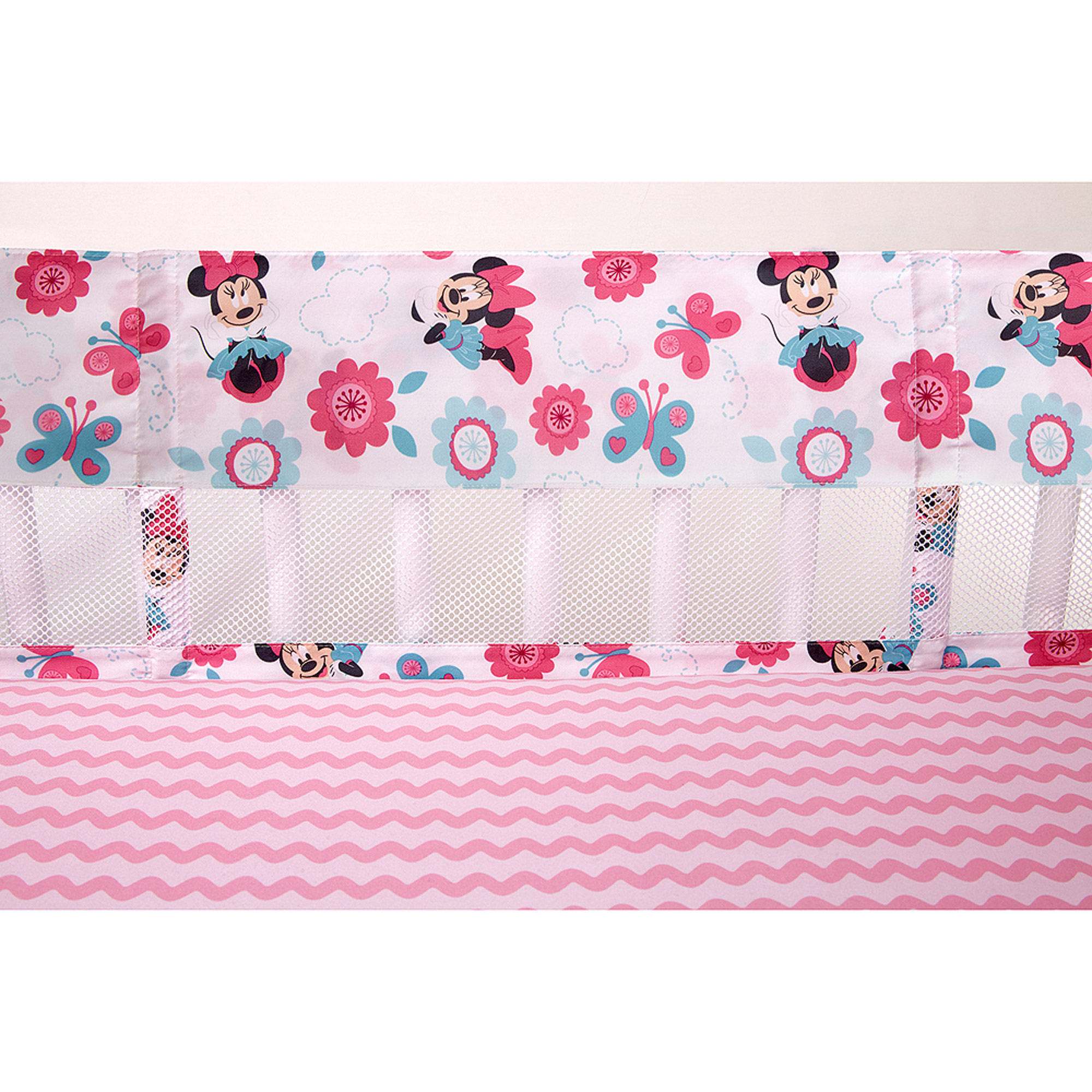 Disney Minnie Mouse Happy Day Secure-Me Crib Liner