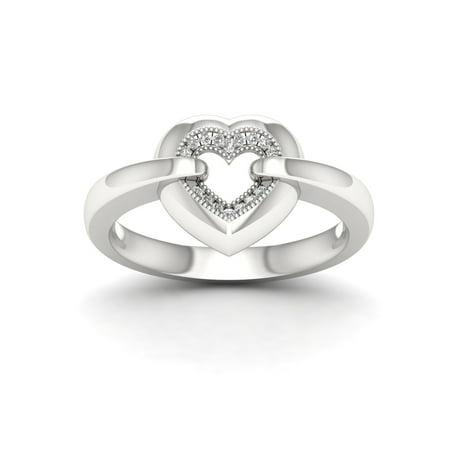 6356e2129bb 1/20Ct TDW Diamond S925 Sterling Silver Fashion Ring