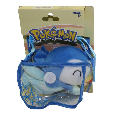 Plush Strap - Pokemon Tomy Shoulder Plush - PIPLUP with Carrying Bag & Strap (6 inch)