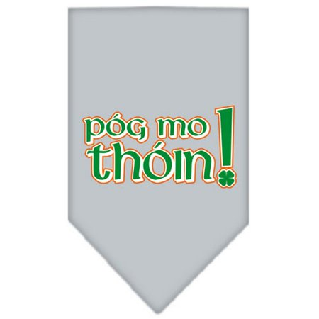 Pog Mo Thoin Screen Print Bandana Grey Large