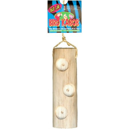 Wesco Pet Bird Kabob Bird Toy Ole Junior (7 Long x 2 -