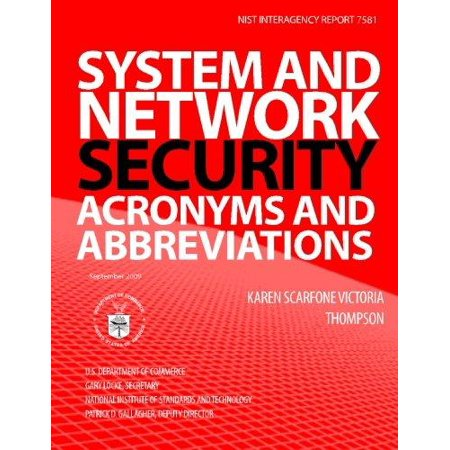 System And Network Security Acronyms And Abbreviations