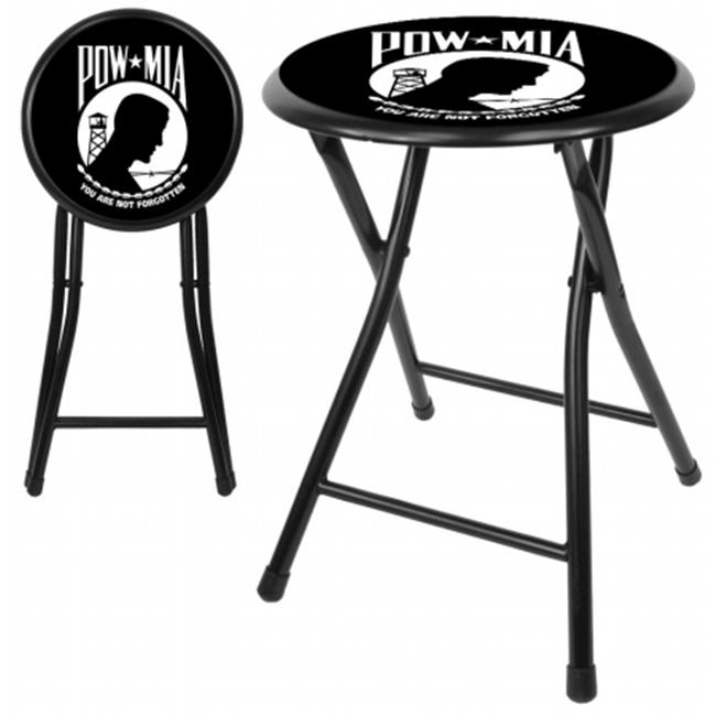 POW 18 Inch Cushioned Folding Stool - Black