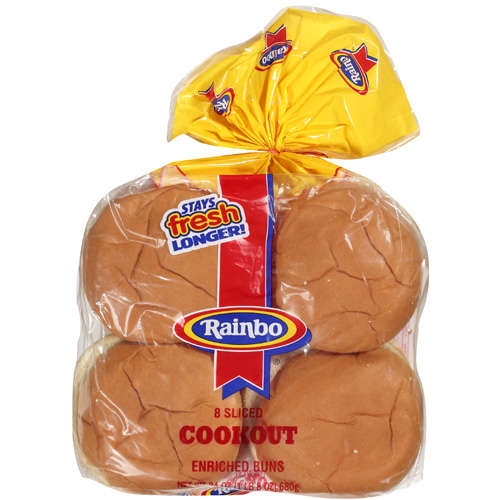 Rainbo Cookout Enriched Bun Buns, 24 oz