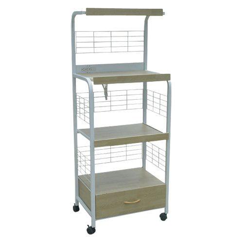 Home Source Metal Microwave Cart