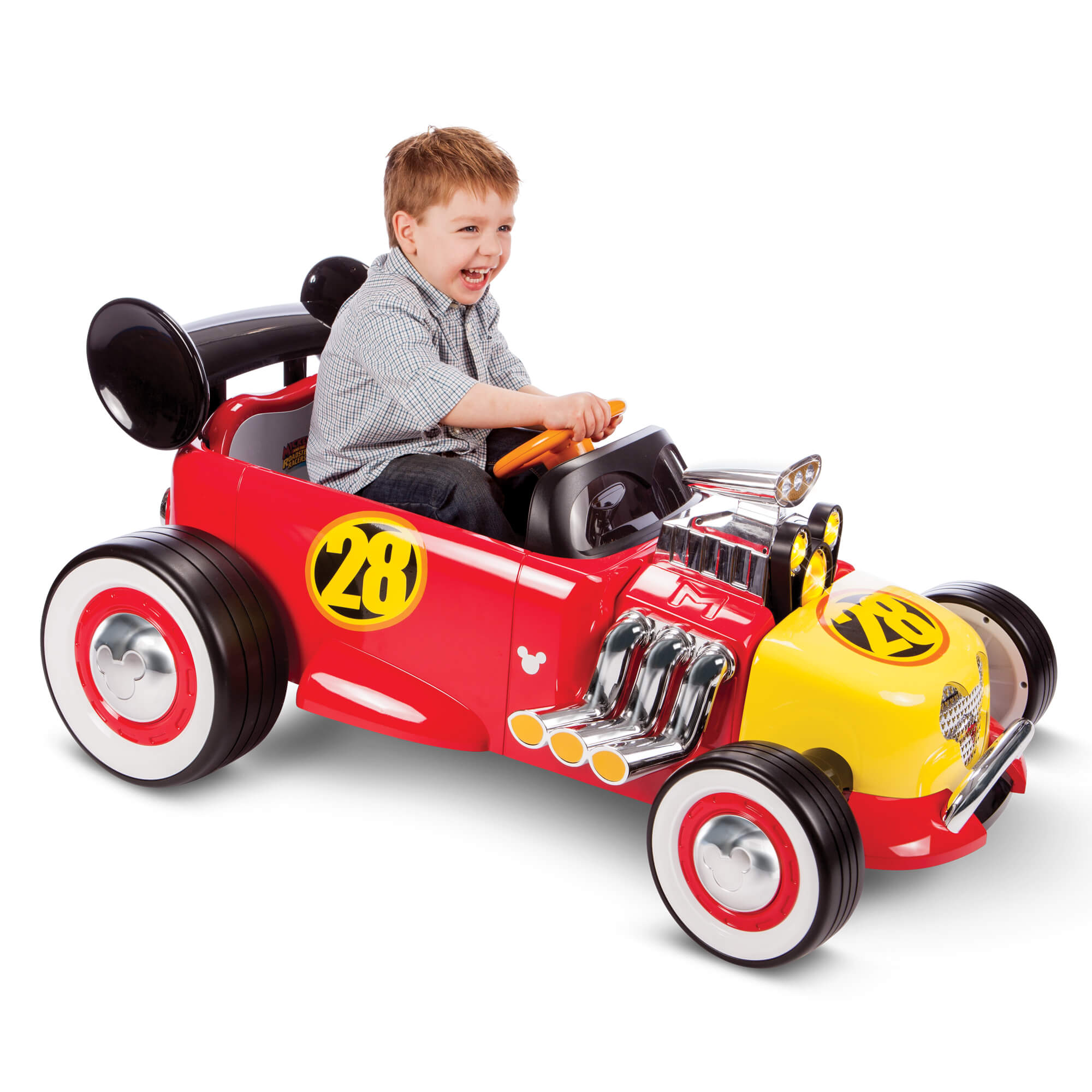 Disney Mickey Roadster Racer 6-Volt Battery-Powered Ride On by Huffy by Huffy