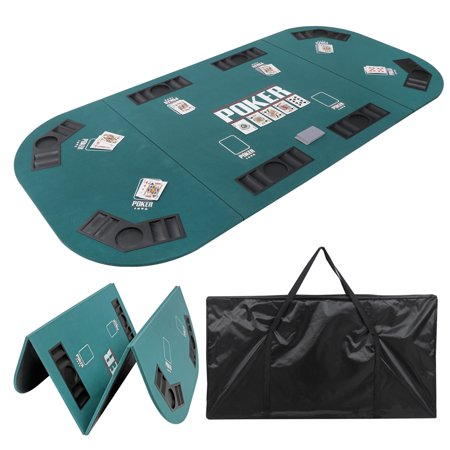 Zeny Folding Poker Table Top Portable for 8 Casino Player Tri-Fold Poker Table Top w/Carrying Case
