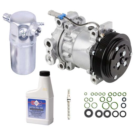 AC Compressor w/ A/C Repair Kit For Chevy S10 Blazer GMC Sonoma Isuzu & Olds
