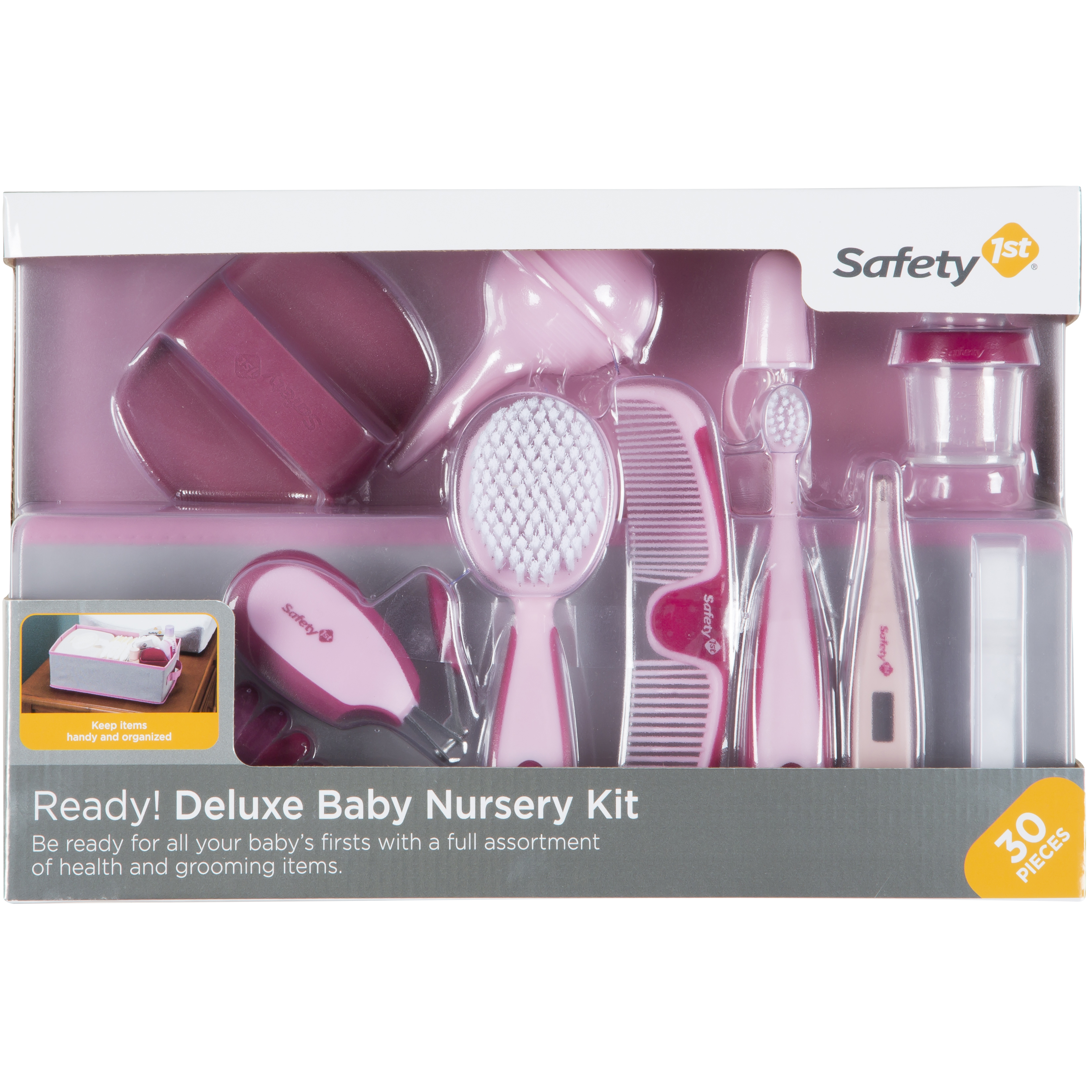 Safety 1�ᵗ Ready! Deluxe Baby Nursery Kit (Raspberry), Pretty In Pink by Safety 1%CB%A2%E1%B5%97%C2%AE