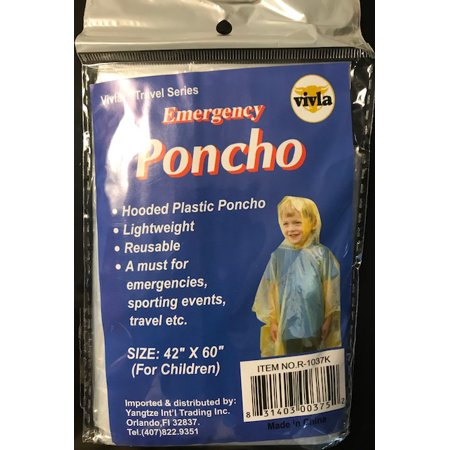Youth Poncho (emergency youth poncho)