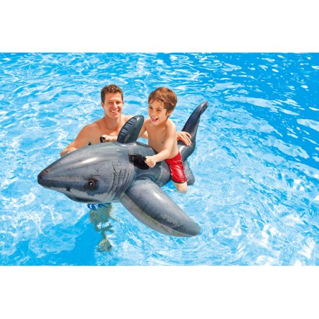 Cool Shark Pool (Intex Great White Shark Ride-On Inflatable for Swimming Pools )