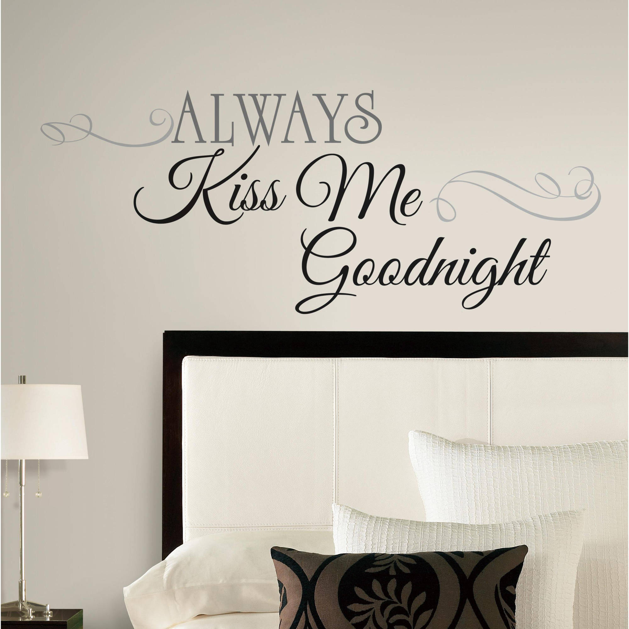 Always Kiss Me Goodnight Peel & Stick Wall Decals - Walmart.com