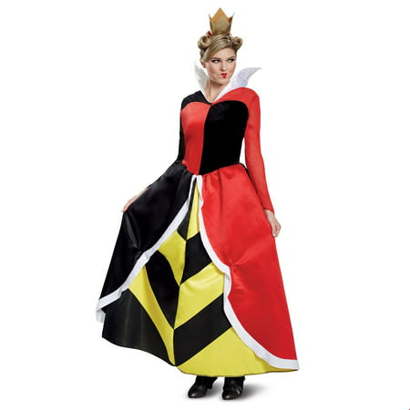 Disney Villains Queen Of Hearts Deluxe Adult Halloween Costume](Creative Villain Costumes)