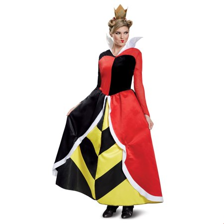Disney Villains Queen Of Hearts Deluxe Adult Halloween Costume](Disneyland Halloween Villains)