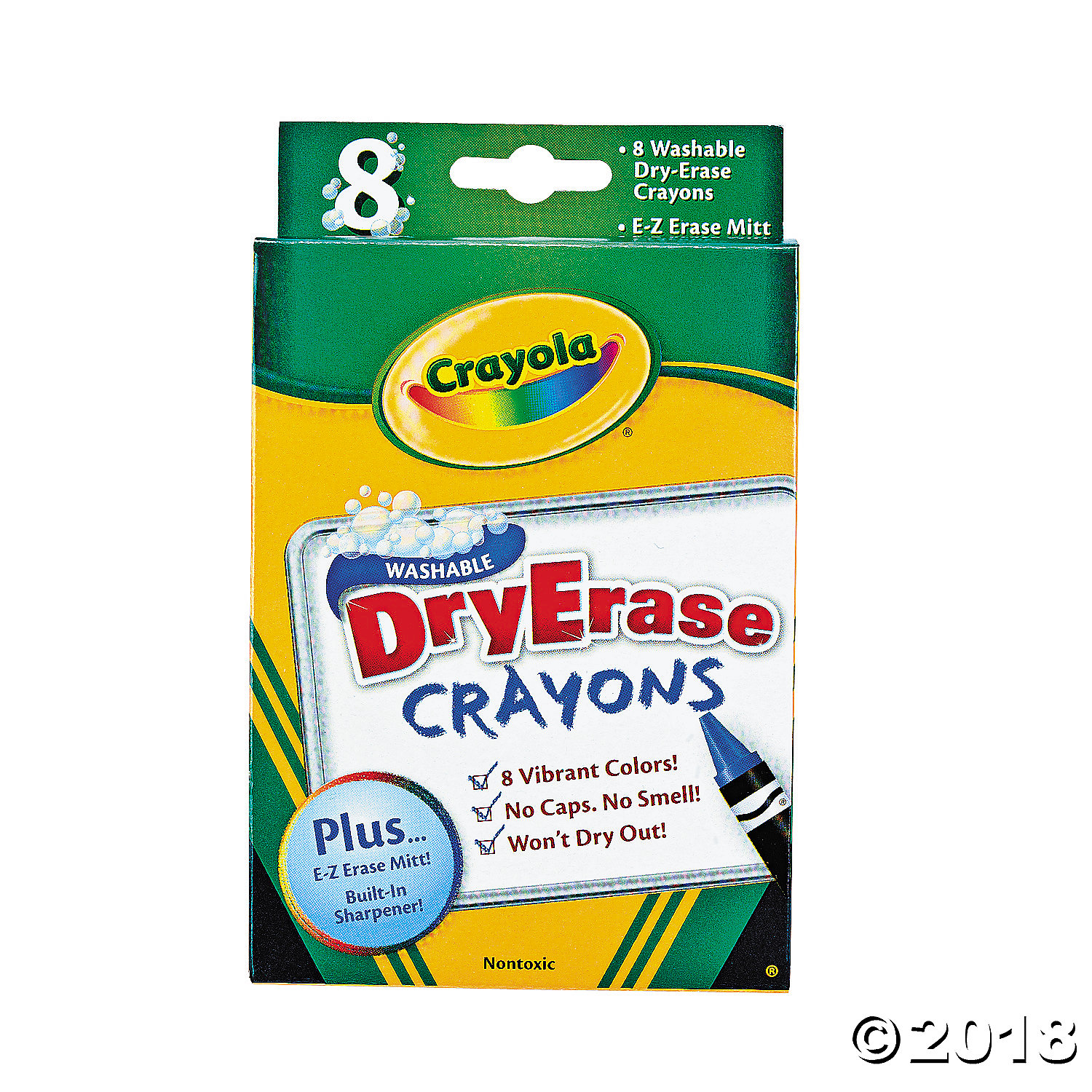 8-Color Crayola® Dry Erase Crayons(pack of 1)