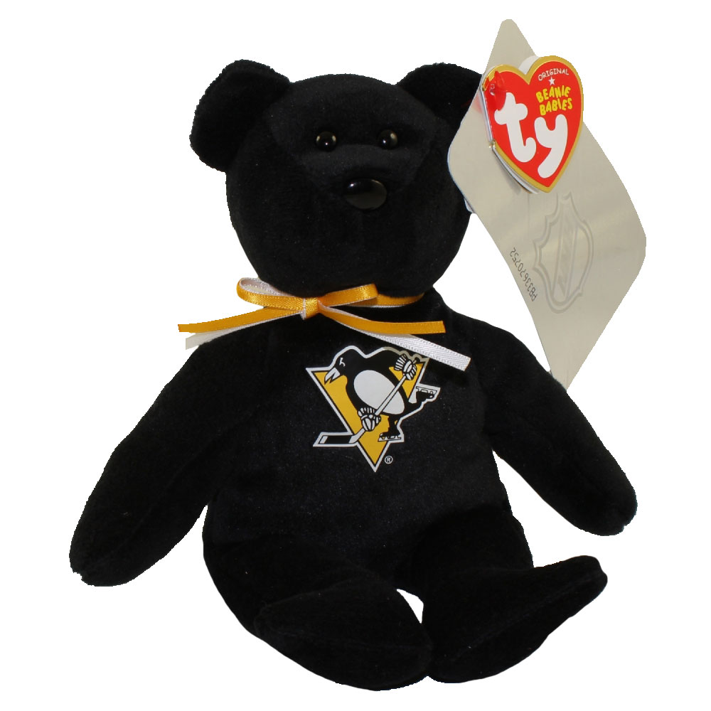 cedeab6d443 TY Beanie Baby - NHL Hockey Bear - PITTSBURGH PENGUINS (8 inch) -  Walmart.com