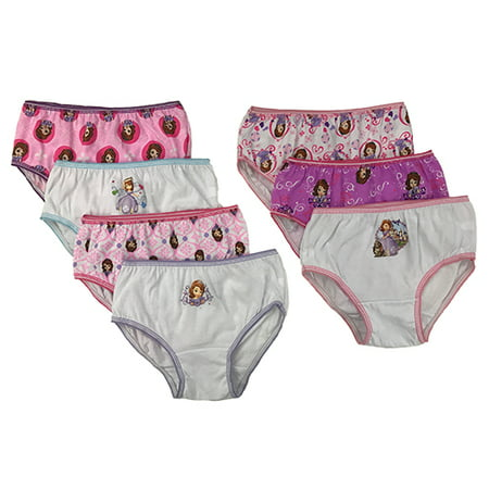Sofia the First Disney Girls' Underwear, 7 Pack - Sofia The Frist