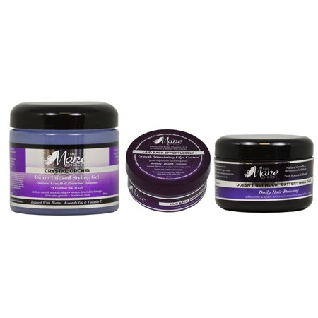 The Mane Choice  Growth Stimulating Edge Control, Daily Hair Dressing, and Biotin Infused Styling Gel 3-piece - Illusion Gel