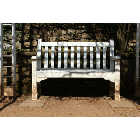 Canvas Print Seating Furniture Wood Park Bench Bank Park Stretched Canvas 10 x