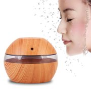 USB LED Ultrasonic Air Humidifier Essential Oil Diffuser Wood Grain Aromatherapy Purifier 300ml
