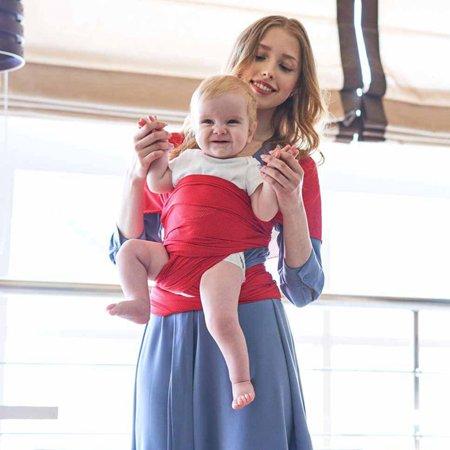 AkoaDa Baby Newborn Sling Stretchy Wrap Carrier Pouch Infant Birth Breastfeeding