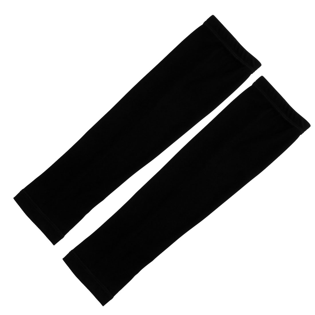 Outdoor Sports Bicycle Cycling Sun Protection Cover Arm Sleeves Black Pair by Unique-Bargains