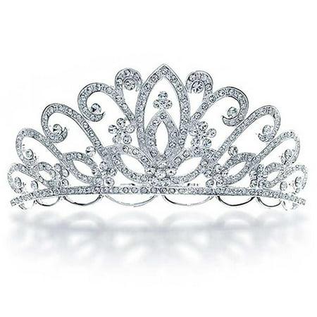 Bridal Tiara For Wedding Rhinestone Princess Headpiece Crown Hair Accessories For Bride Party Prom Pageant Birthday - Bridal Tiaras