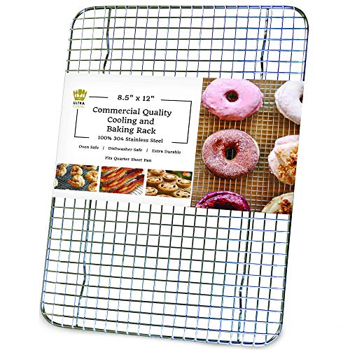 SHEET PAN STAINLESS STEEL GRATE BAKING COOLING BACON WIRE RACK AND PAN LOT