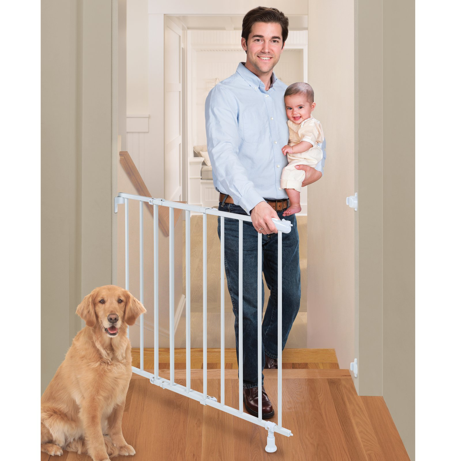 Summer Infant Top Of Stairs Simple To Secure Metal Baby Gate White
