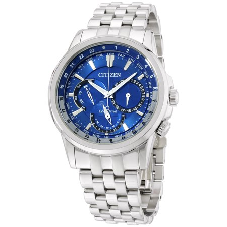 - Eco-Drive Calendrier World Time Mens Watch BU2021-51L