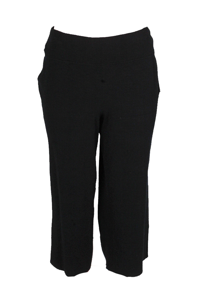 Alfani NEW Solid Black Womens Size Small S Sweater-Knit Cropped Pants