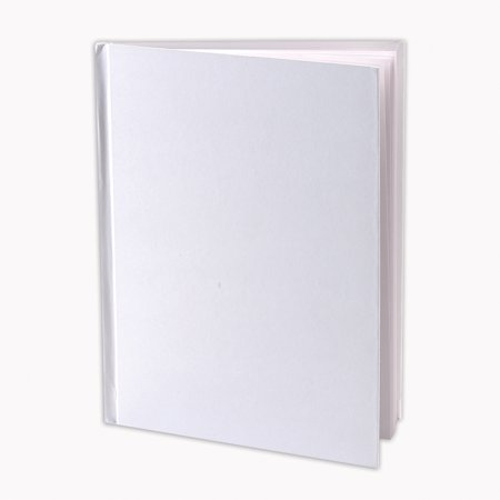 Ashley Hardcover Blank Book  White