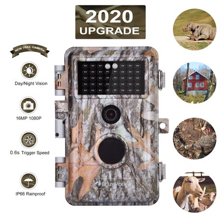 [Upgraded]Game Hunting Trail Camera 16MP 1080P No Glow with Night Vision Motion Activated IP66 Waterproof Outdoor Tracking & Stand By Time Up to 6 Months, Time Stamp & Time Lapse, Photo & Video Model thumbnail
