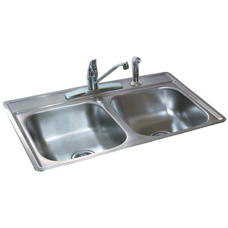 Double Bowl Utility Sink - Fhp FDS654N 6.5