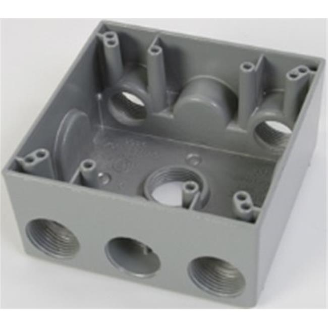 Greenfield B252PS Series Weatherproof Electrical Outlet Box Gray Greenfield Industries Inc.