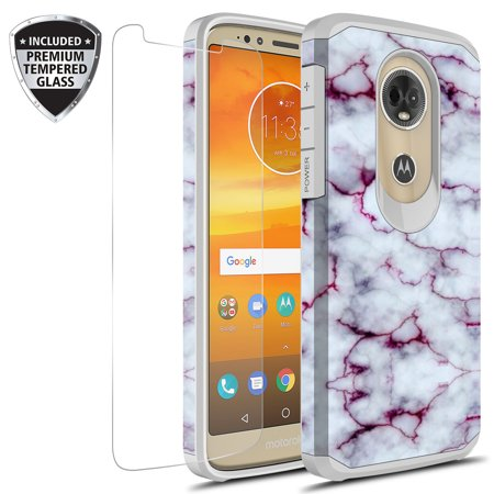 new concept 4a76f 5c6a2 Moto G6 Play Case, Moto G6 Forge Case With Tempered Glass Screen Protector,  KAESARSlim Hybrid Dual Layer Graphic Fashion Colorful Cover Armor Case for  ...