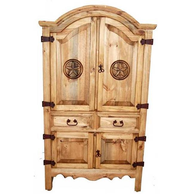Million Dollar Rustic 01-1-10-13DA-TX Small Sierra Armoire 0.75 In. - Ltx